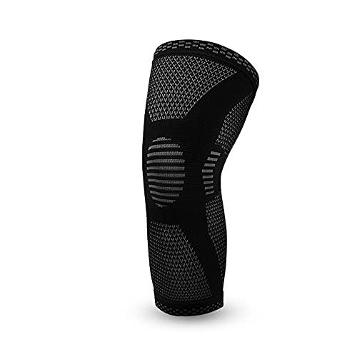 Almohadillas elásticas de la rodilla Soporte Deportes COMPRESSIÓN KNEE PAD SIMPLANTE Y ACCESORIOS DE APTIBLES DE VERANO (Color : Black, Size : Small)