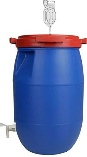 lilawelt24 60L Gärfass Maischefass Weinfass kompletter Gärbehälter Gärbottich Getränkefass
