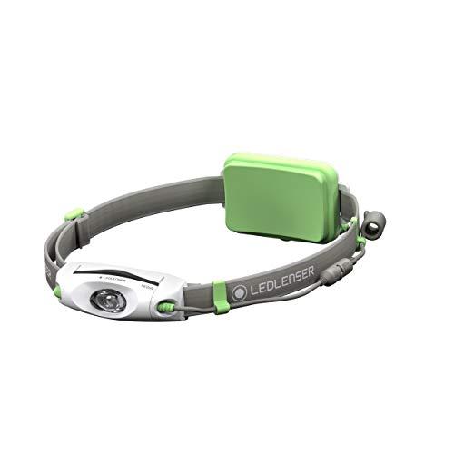 Ledlenser Led Lenser Zweibrüder Ledlenser NEO6R LED Akku Stirnlampe, sehr helle 240 Lumen, 40 Stunden Laufzeit, wiederaufladbar, rotes Rücklicht, grün, inkl. Akku, One Size