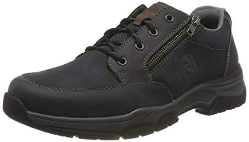 Rieker Herren 11230 Oxford-Schuh, blau, 43 EU