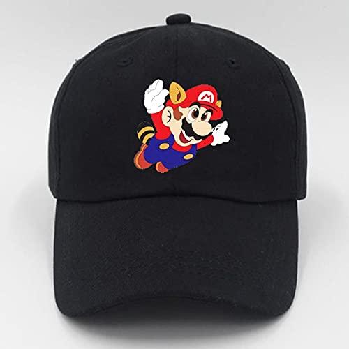 Sombrero Super Mario Anime Super Mario Hat Cap Luigi Bros letra impresa Cosplay disfraz bisbol adultos sombreros FC juego regalo chico