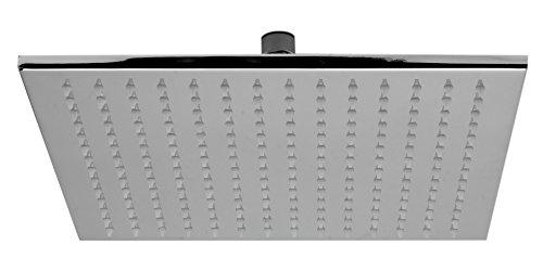 "ALFI brand LED12S-PC Polished Chrome 12"" Square Multi Color LED Rain Shower Head"