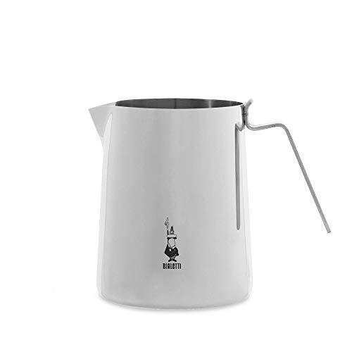 Bialetti 0001809 Milchkännchen Edelstahl, Rostfreier Stahl, Silber, 20 cm