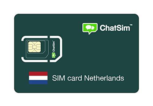 Internationale SIM-Karte für Reisen nach NIEDERLANDE und rund um den Globus - ChatSim - Empfang in 165 Ländern, Roaming weltweit - Mehrfachanbieternetz GSM/2G/3G/4G, keine Fixkosten. 1GB für 30 Tage