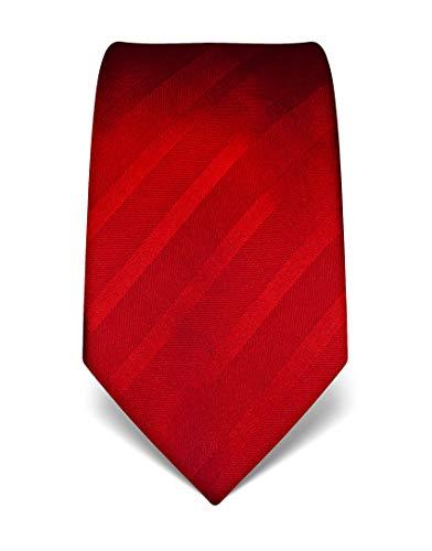 Vincenzo Boretti Corbata de hombre en seda pura, tono sobre tono de rayas rojo