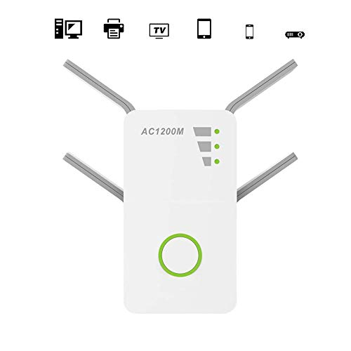 SHENGY 1200Mbps 2.4GHz 5GHz Dual Band AP Wireless WiFi Repeater, Range AC Extender Repeater Router WPS met 4 externe antennes wifi-versterker