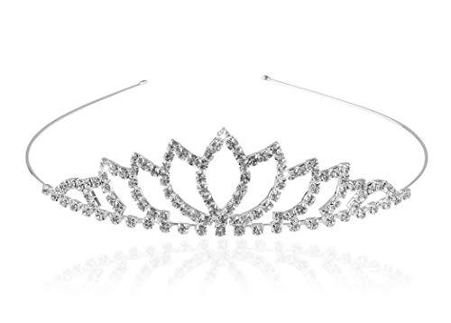 Pixnor Wedding Tiara nuziale strass Decor Hairband capelli Clip capelli Loop Tiara