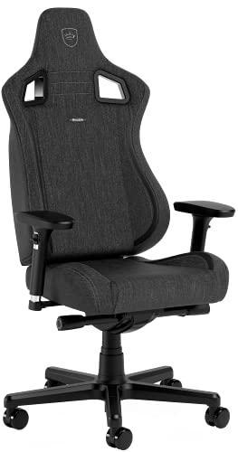 noblechairs Epic Compact TX Gaming Stuhl, Bürostuhl, Schreibtischstuhl, Kopf- und Lendenstütze, Atmungsaktives Textilgewebe, Entwickelt für Nutzer bis 120 kg und 1,7 Meter Hoch, Anthrazit