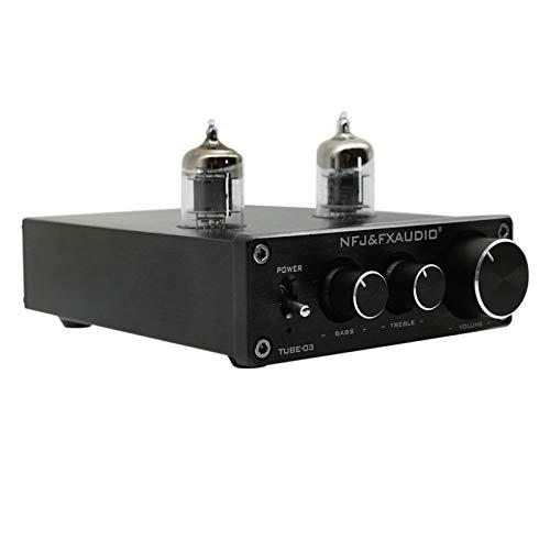 docooler FX-Audio Mini HiFi Audio Preamplificador 6K4 Amplificador Valvular Buffer Treble Bass Regulación RCA Preamplificador Enchufe EU