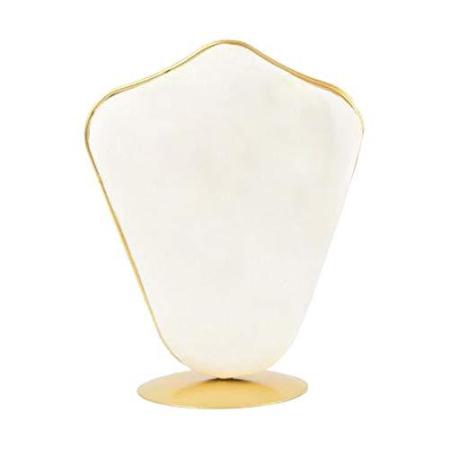 FITYLE Collar de joyería de Terciopelo exhibición Busto Soporte Rack para Tienda de Venta al por Menor Vitrina hogar - Beige