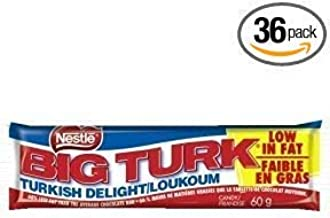 Nestle Big Turk Chocolate BAR 36pk (76.2oz) Made in Canada