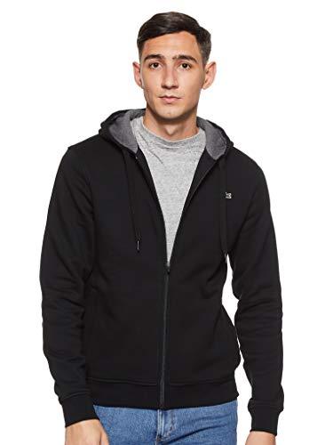 Lacoste Herren Sh7609 Sweatshirt, Schwarz (Noir/Bitume Chiné E89), Medium (Herstellergröße: 4)