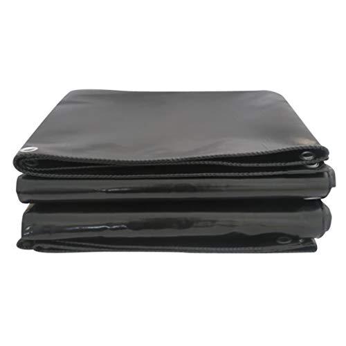 HuaHua Meubeldekzeil, sterk waterdicht duurzaam zwart zeil dikker zonwering scheurbestendig schuur doek, voor tuinieren, Hutch, trampoline, hout, auto, camping