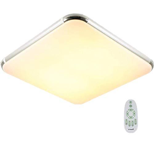 Natsen® 50W LED Deckenleuchte Deckenlampe voll dimmbar mit Fernbedienung moderne Wandlampe Lampe für Wohnzimmer Schlafzimmer Küche Büro (I503Y-50W-WJ)