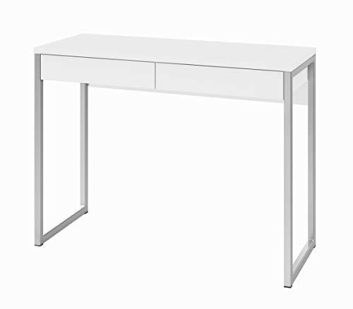 Tvilum Walker 2 Drawer Desk, White High Gloss