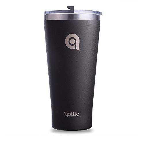 Taza de viaje de acero inoxidable con aislamiento al vacío, de 30 onzas, material sin BPA, mantiene líquidos calientes o fríos