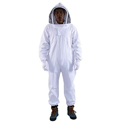 FRAUIT nieuwe beschermende jumpsuit professioneel katoen volledig lichaam imkerei bijenteelt pak met capuchon