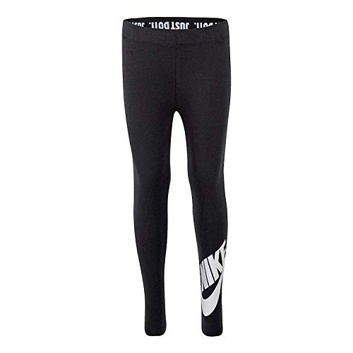 Nike Girls' Just Do It Black Leggings (Medium)