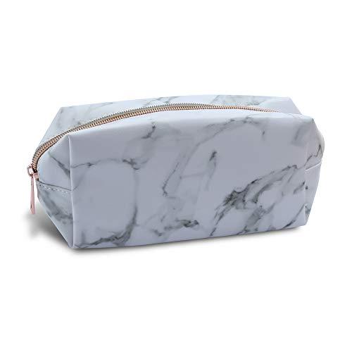 Neceser con diseño de mármol para maquillaje, bolsa de viaje con cremallera, estuche y bolsa de lavado