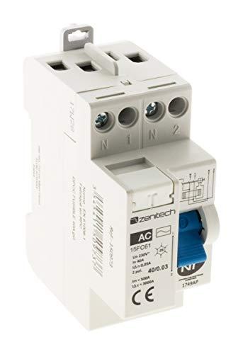 Interrupteur différentiel 40/2 30mA Type AC NF - Zenitech
