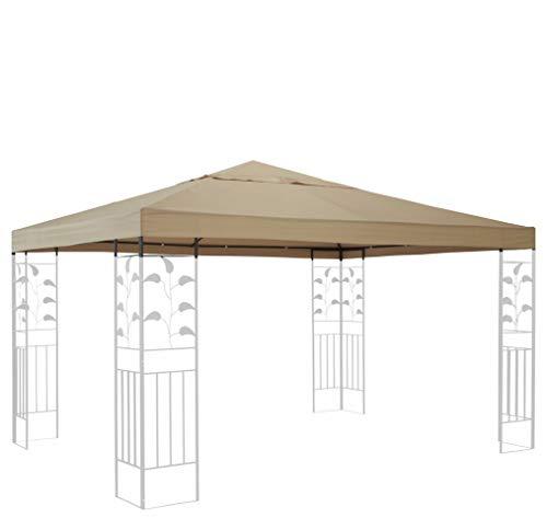 QUICK STAR Ersatzdach für Blätter Pavillon 3x3m Pavillondach Sand Ersatzbezug