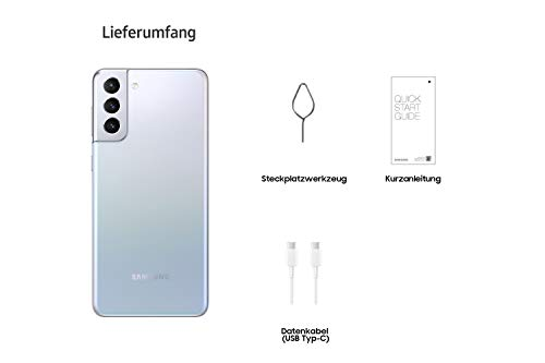 Samsung Galaxy S21+ 5G, Android Smartphone ohne Vertrag, Triple-Kamera, Infinity-O Display, 256 GB Speicher, leistungsstarker Akku, Phantom Silver - 6