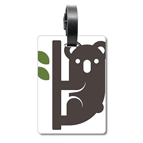 Silhouette Australia Koala and Eucalypt Cruise Suitcase Bag Tag Tourister Identification Label