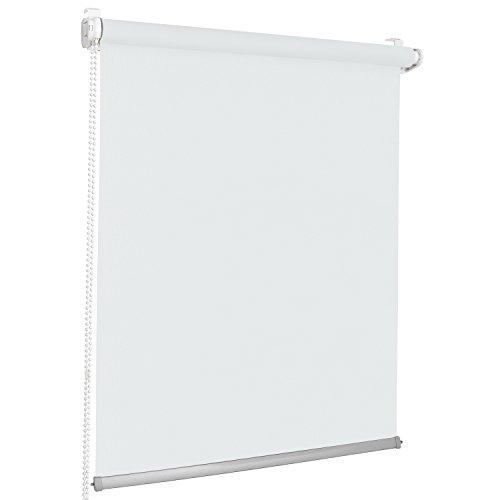 Rolmaxxx ROLLMAXXX Modern Rollo Lichtdurchlässigrollo Klemmfix ohne Bohren (130 x 150 cm, Weiß)
