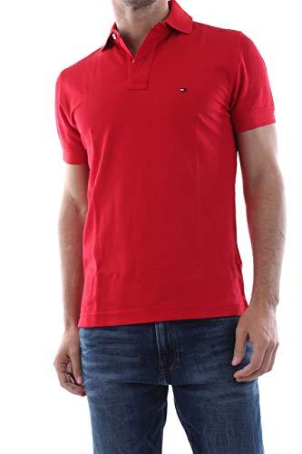 Tommy Hilfiger Herren Poloshirt Regular Fit rot (74) XXL