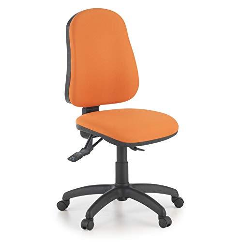 Ofiprix Silla Eco2 Silla Giratoria de Oficina Silla de Escritorio Tapizada Mecanismo Sincronizado Color Naranja