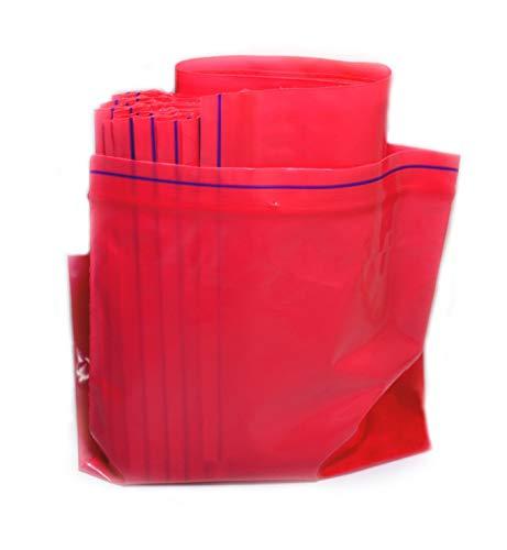 Rolli Bolsas Reutilizables con Cierre Zip Bolsas de Plastico Ziplock Rojo 100x150 100uds