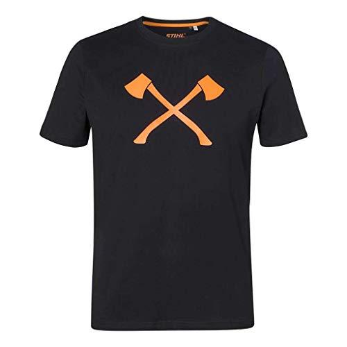 Stihl Axe T-Shirt, Schwarz, 2XL