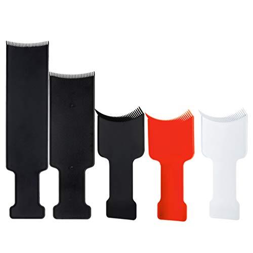 KESYOO 5 Stks Haarkleurplaat Set Haarverf Board Professionele Pick Kleur Balayage Board Platte Top Paddle Board Kam Kappers Gereedschap