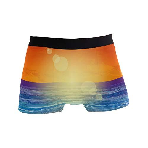 Linomo Herren Boxershorts Hawaii Sommer Strand Unterhosen Männer Herren Unterwäsche für Männer