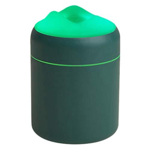 TOOGOO Humidificador de Aire Humidificadores PortáTiles de Niebla FríA, Difusores Silenciosos de Escritorio USB, Luz Nocturna para el Hogar, Dormitorio, Oficina, Verde