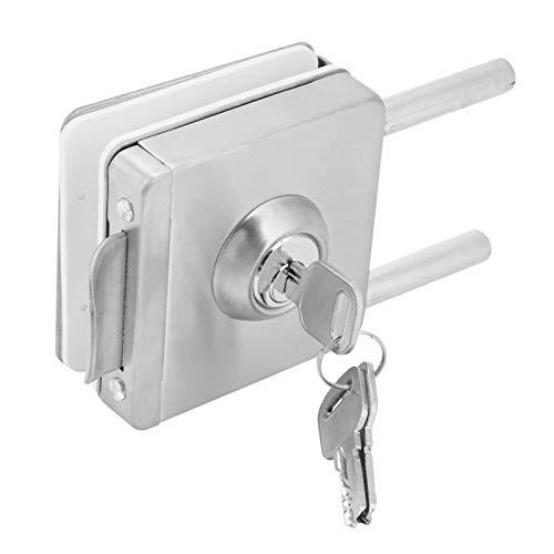 Cerradura de puerta de vidrio, cerradura de pestillo de 45-55 mm, puerta de oficina para puerta de vidrio de hogar familiar