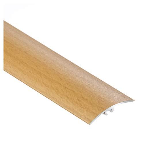 CEZAR W-AL-LW40-B-090 Schutzleiste/Übergangsschiene/Übergangsprofil mit Laminat/Holzdekor Buche mit Dübeln 40mm