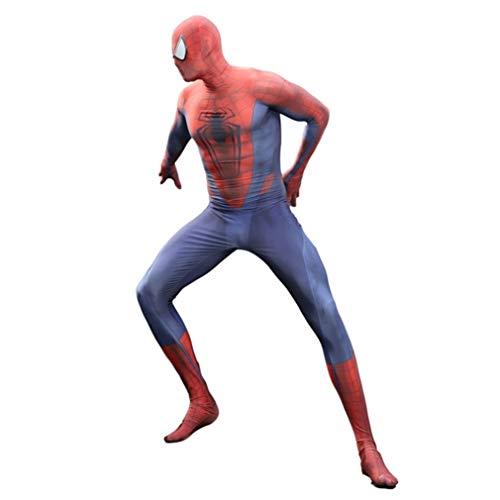 Luxe filmkostuum Cosplay Superheld Spiderman volwassenen kinderen vaste onesies pak prom avondjurk thema feestkleding set SPIDERSYBB Adult-M(150-160) A Hero