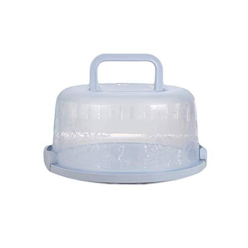 YChoice365 Porta pasteles, bandeja de plástico transparente para pasteles con tapa y asa, caja redonda para almacenamiento de pasteles, recipiente para postres, accesorios para pasteles