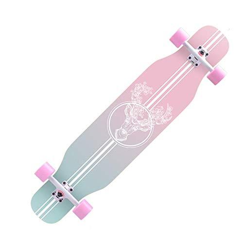 ZXCMNB Roller Ahorn Longboard Junge Mädchen Pinsel Street Dance Board Anfänger Erwachsene Teen Allrad Skateboard Skateboards (Color : F)