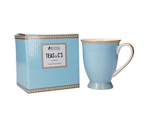 Maxwell & Williams Teas & C's Kasbah Kaffeebecher in Geschenkbox, Porzellan, Türkis, 300 ml