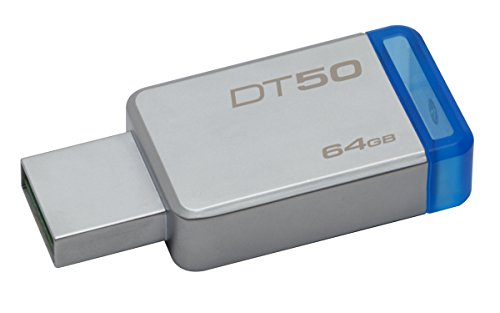 Kingston DT50/64GB Memoria Usb de 64 Gb, 64 Gb, Azul