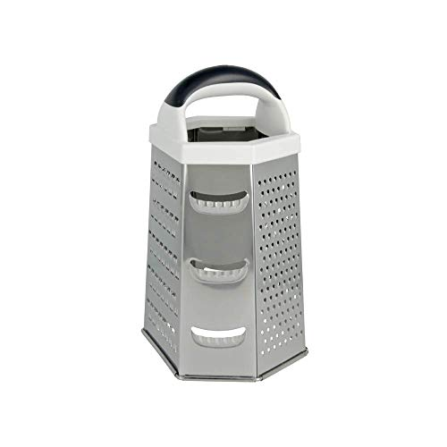 Metaltex Rallador 6 Caras, Acero Inoxidable, Plateado, Centimeters