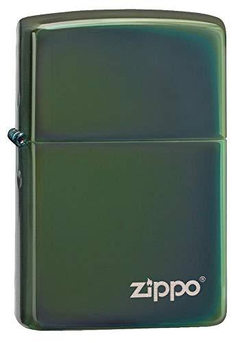 Zippo PVD Green con Logo, Lighter Unisex-Adulto, One Size