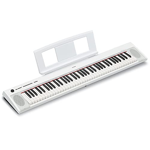 Yamaha NP32 76-Key Lightweight Portable Keyboard, White