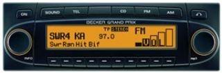 Becker Grand Prix 7990 Autoradio (CD-/MP3-Player, UKW-/MW-Tuner, Bluetooth) gelb