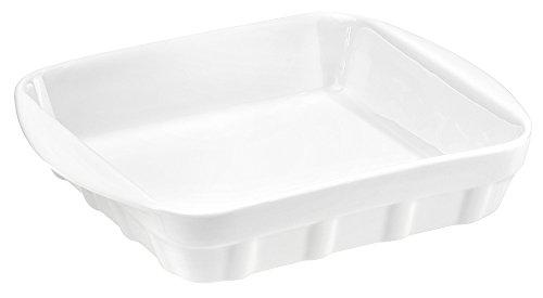 Porcelaine de Reussy 233120GL Plat Carré Blanc 20 x 20 x 4,5 cm