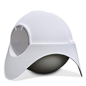 Litière pour chats Fidofox Space Capsule. Litière pour grands chats. Design futuriste unique. Scoop métallique gratuit. Taille XL 62x48x48
