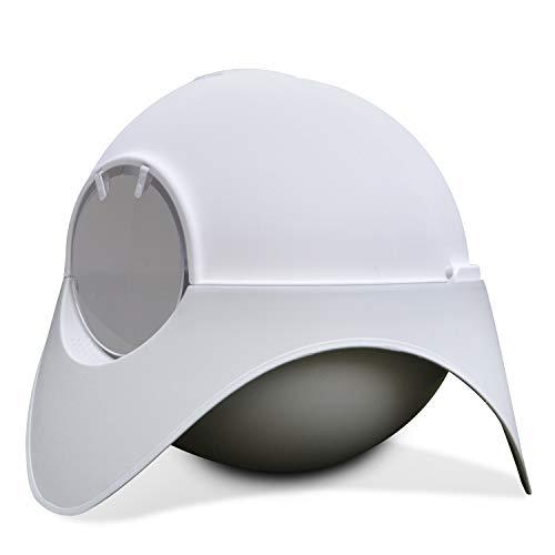 Fidofox Lettiera per Gatti Space Capsule. Lettiera Grande per Gatti. Design Unico all'Avanguardia. Paletta di Metallo in Omaggio. XL 62x48x48