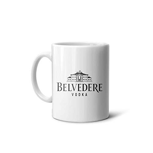 akndhys Belvedere-Vodka- White Novelty CeramicGuest Mugs